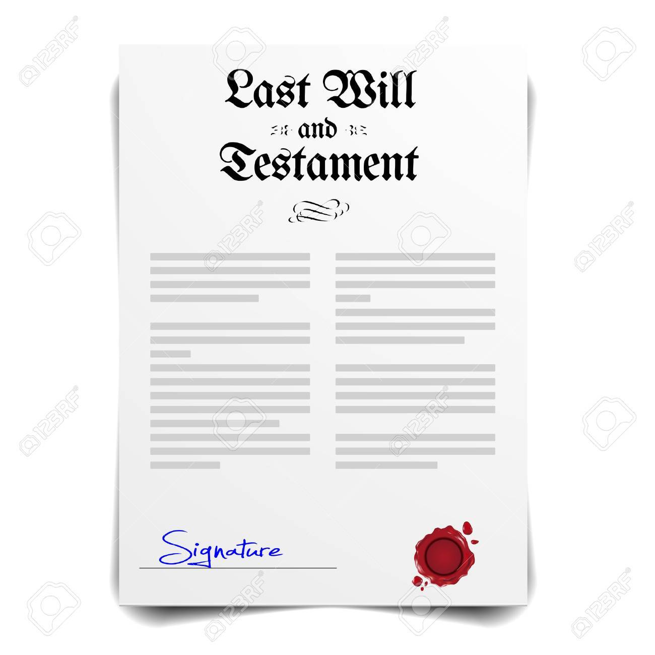 detailed illustration of a Testament Letter, vector - 40339595