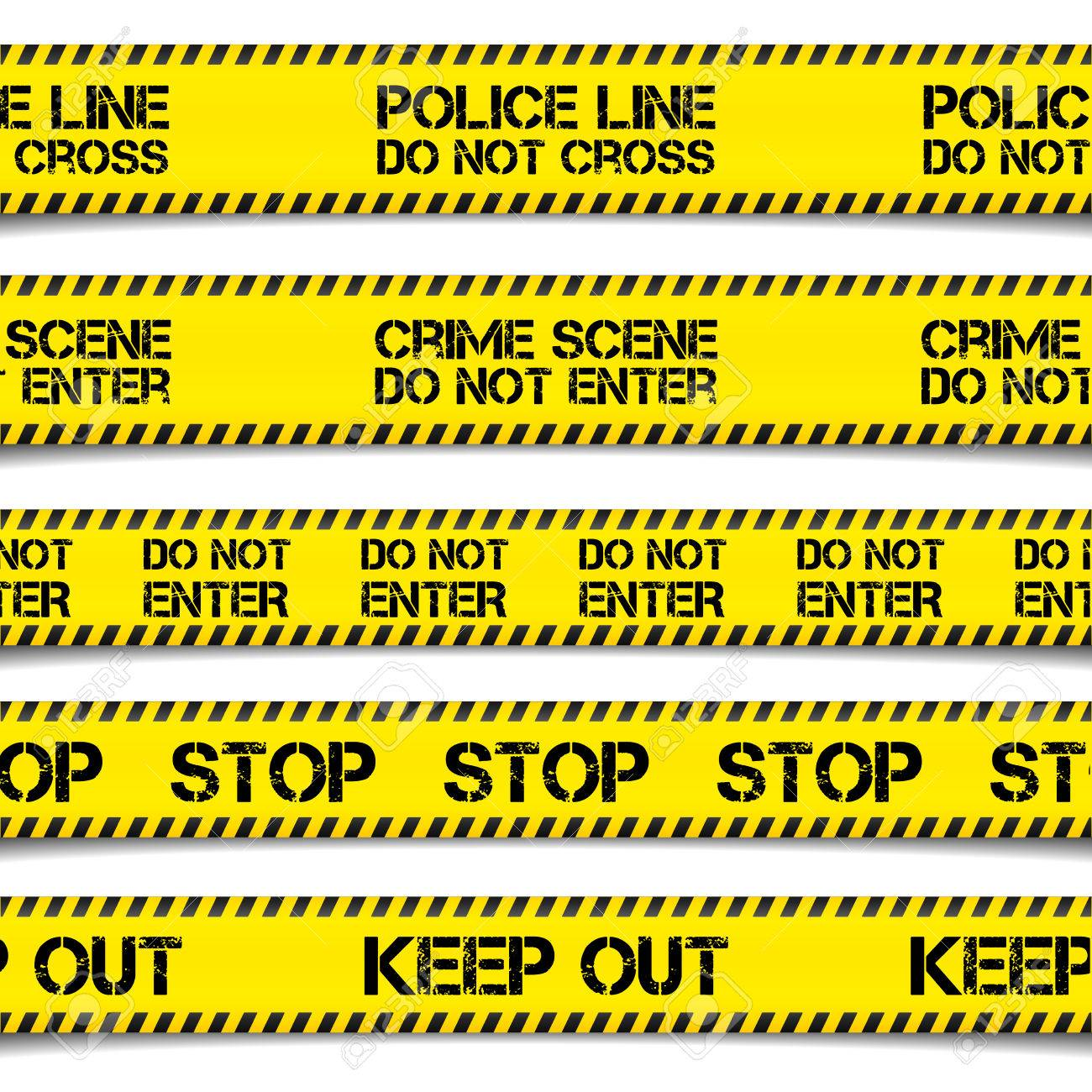 detailed illustration of Police Caution Tapes, vector - 42286097