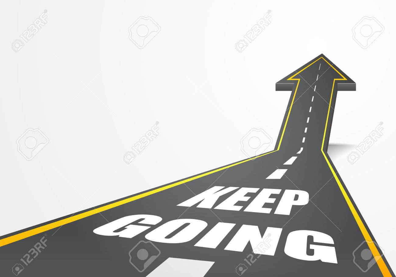 cb12ba877a48c detailed illustration of a highway road going up as an arrow with Keep Going  text