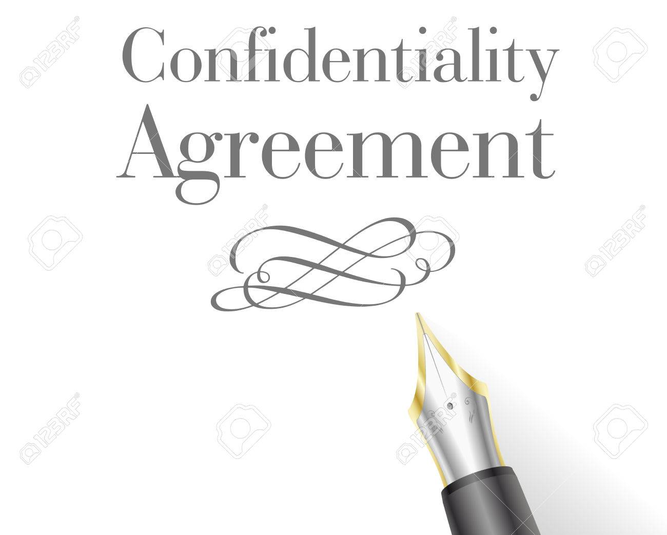 Illustration Of A Confidentiality Agreement Letter With Fountain