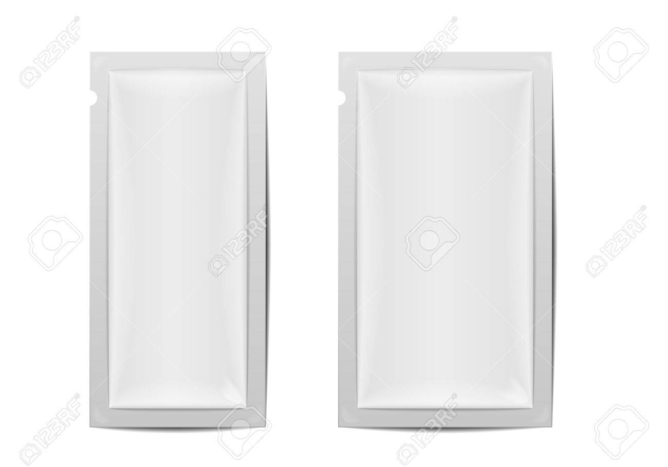 Detailed Illustration Of Two Blank Foil Packaging Templates ...