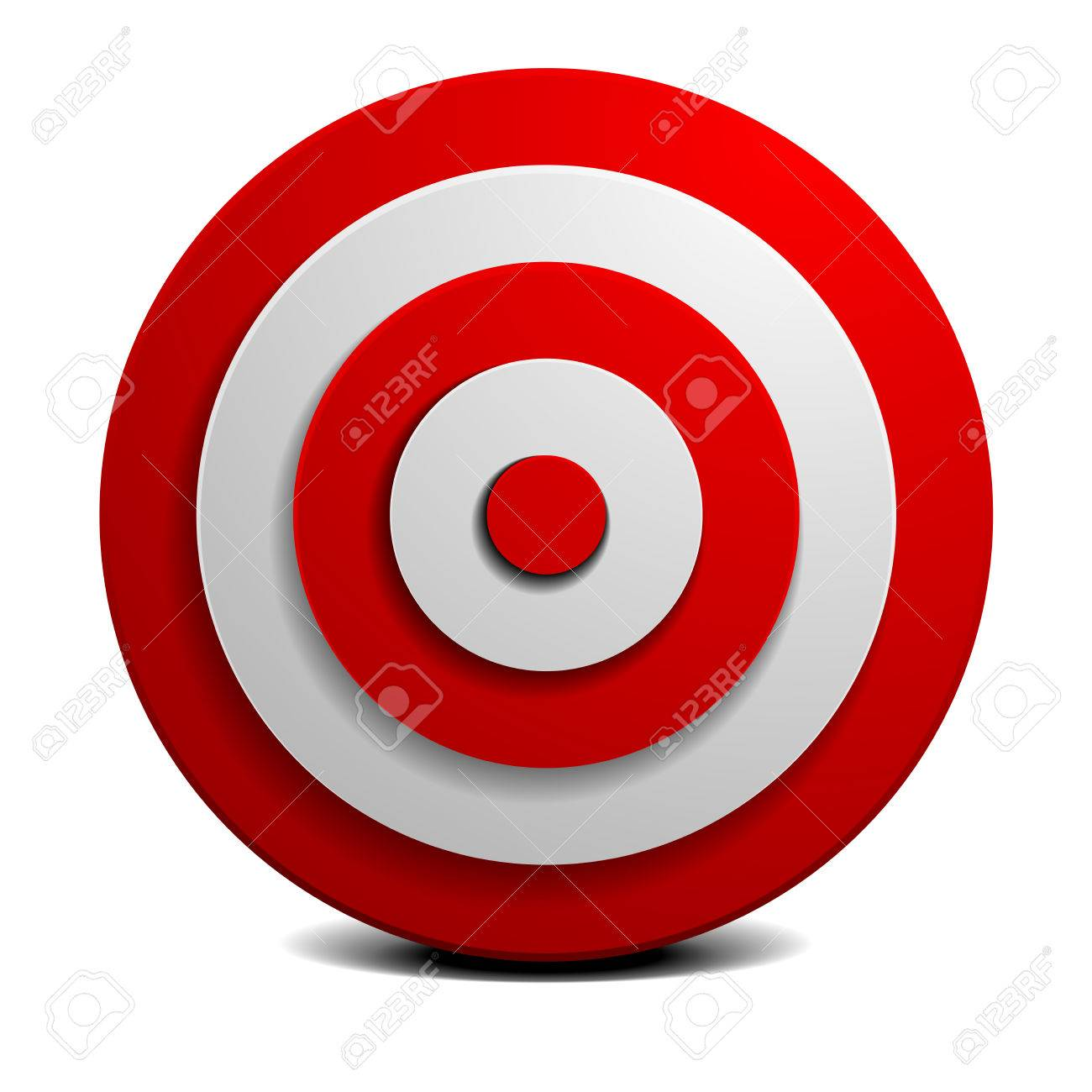 detailed illustration of a red and white target, vector - 47852551