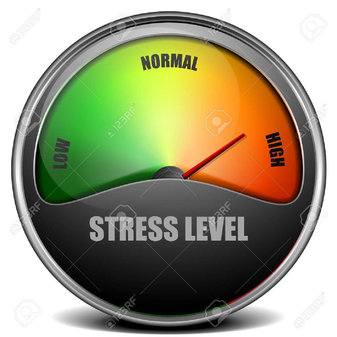 illustration of a Stress Level Meter gauge - 48498774