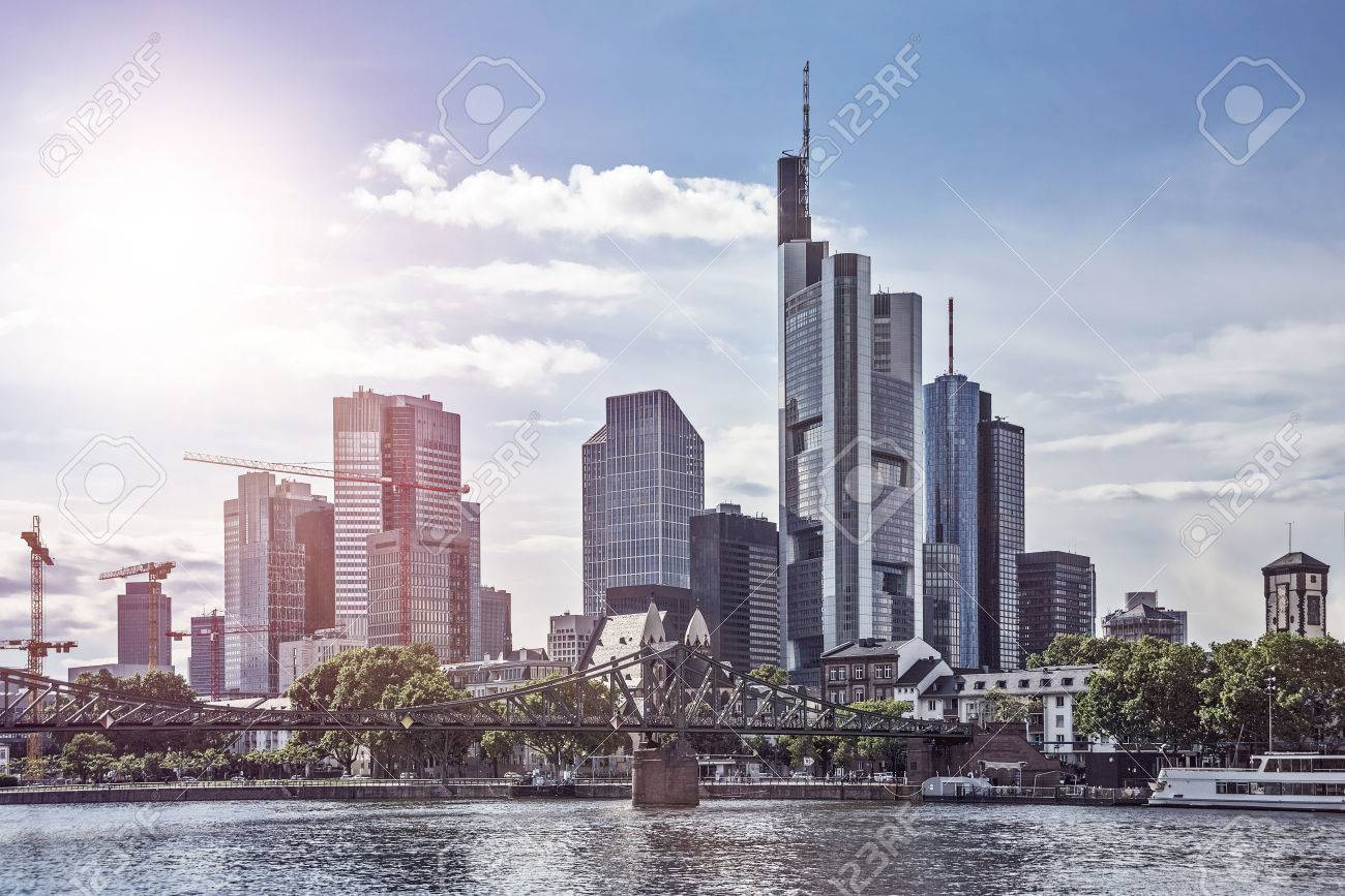 Skyline of Frankfurt am Main in the late afternoon - 49193129