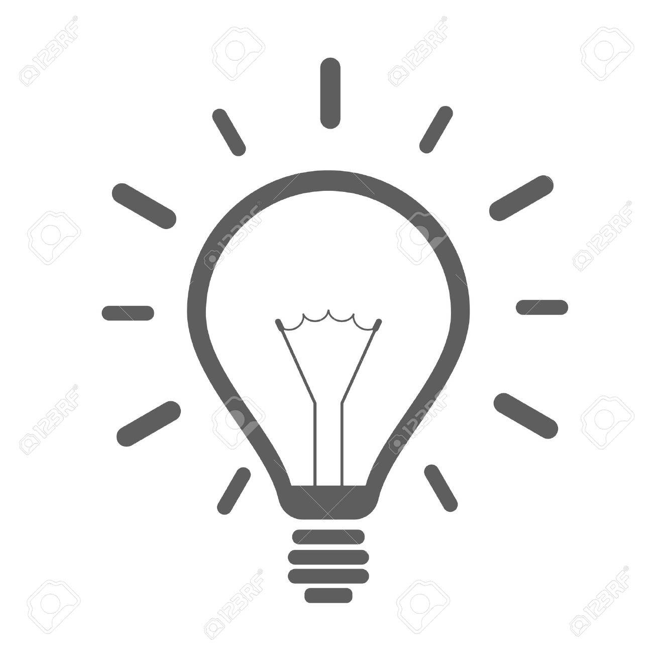 minimalistic illustration of a lightbulb, eps10 vector - 51309543