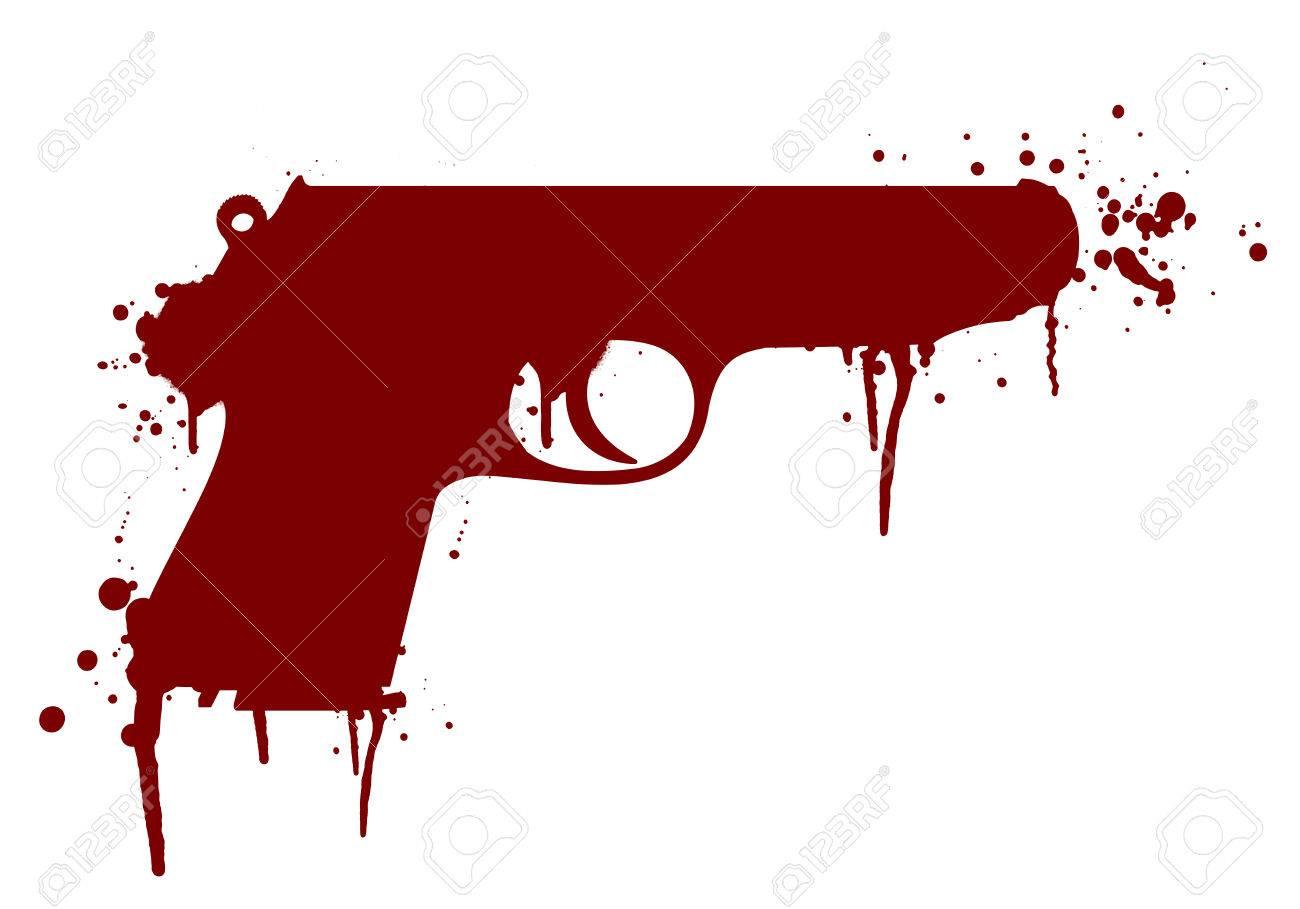 illustration of a handgun with blood splatter royalty free cliparts rh 123rf com blood splatter vector images blood splatter vector free download