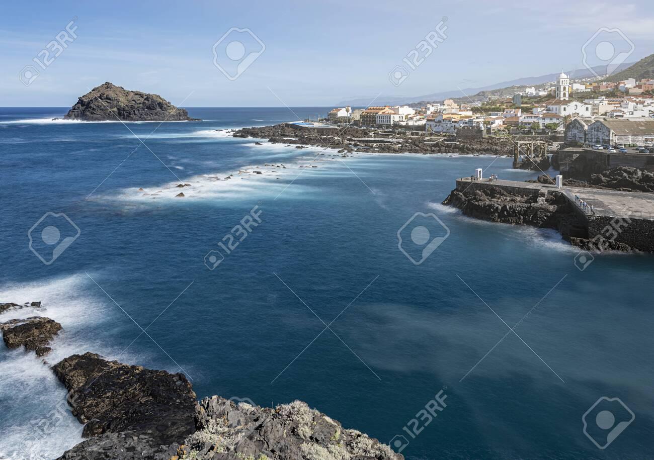 panoramic view over Garachico Village on Tenerife, Canary Islands, Spain - 137352895