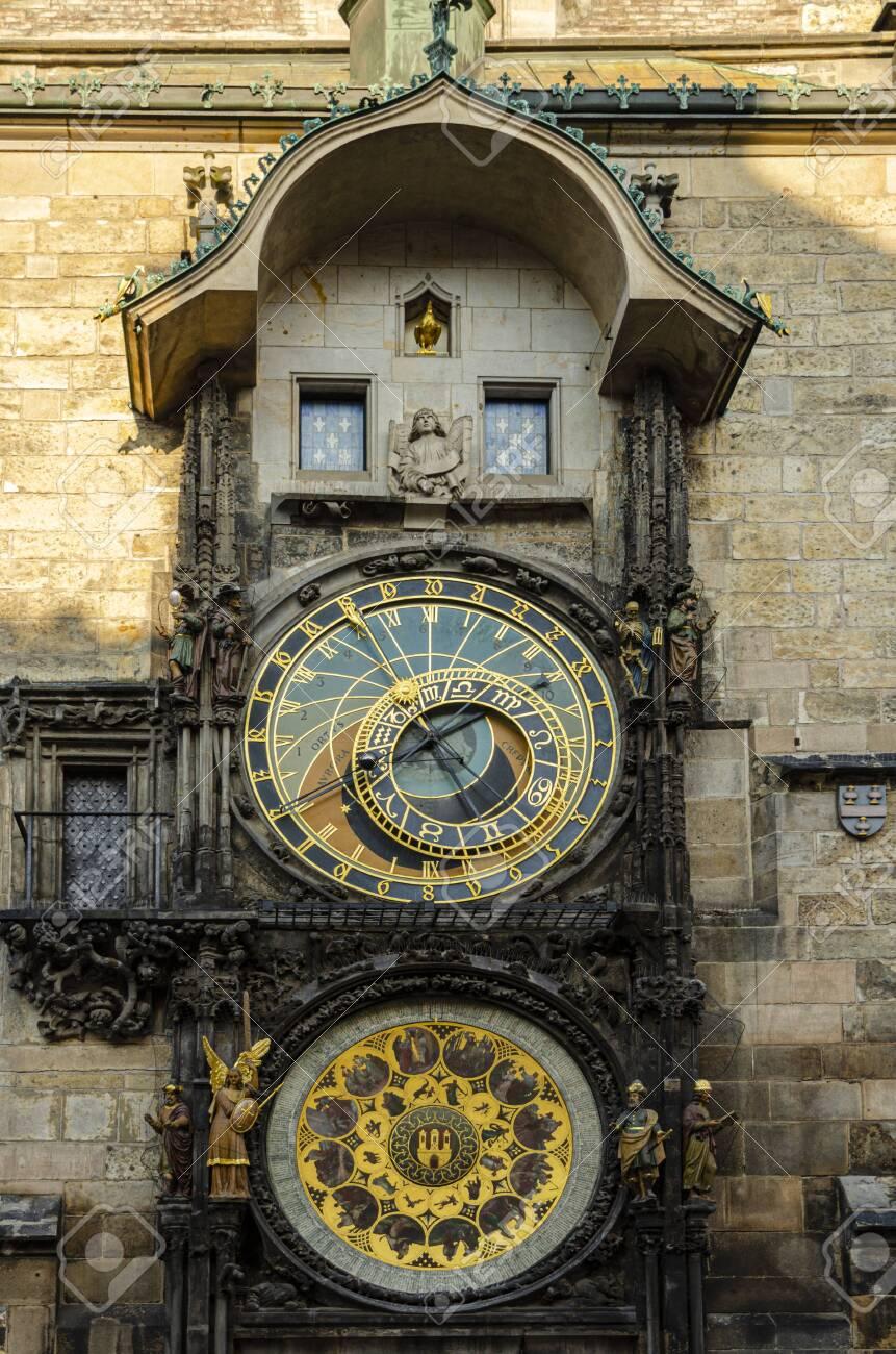 Astronomical Clock (Orloj) in the Old Town Square in Prague, Czech Republic, Europe - 139428526