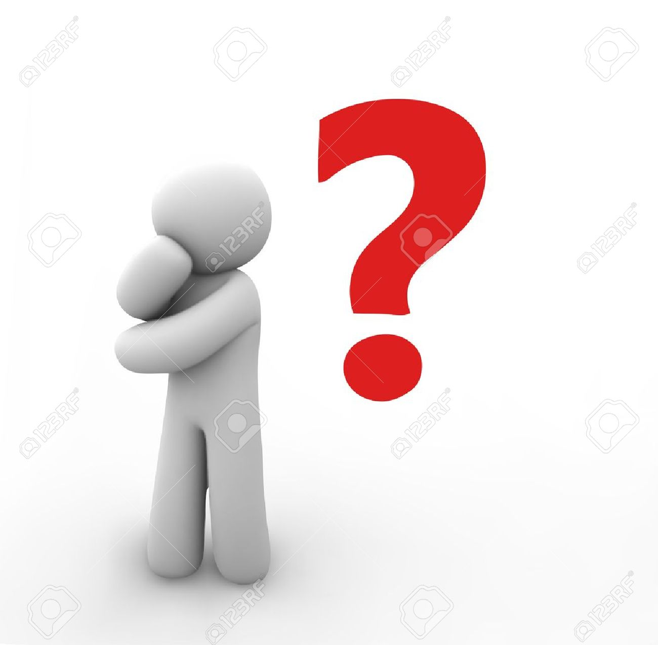 Question Mark Vector Free Vector Human With a Question