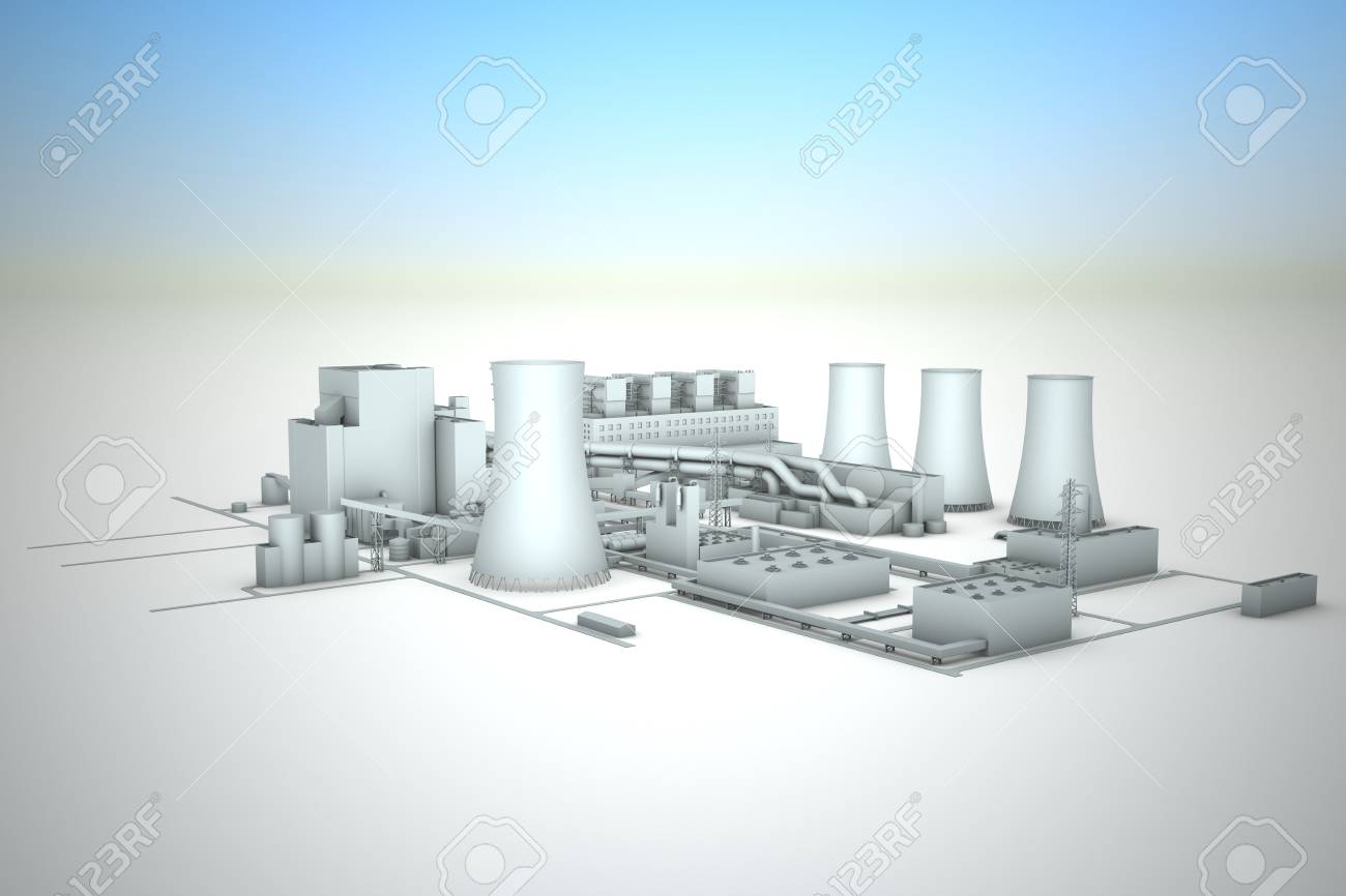 cooling tower of nuclear power plant Stock Photo - 18480790
