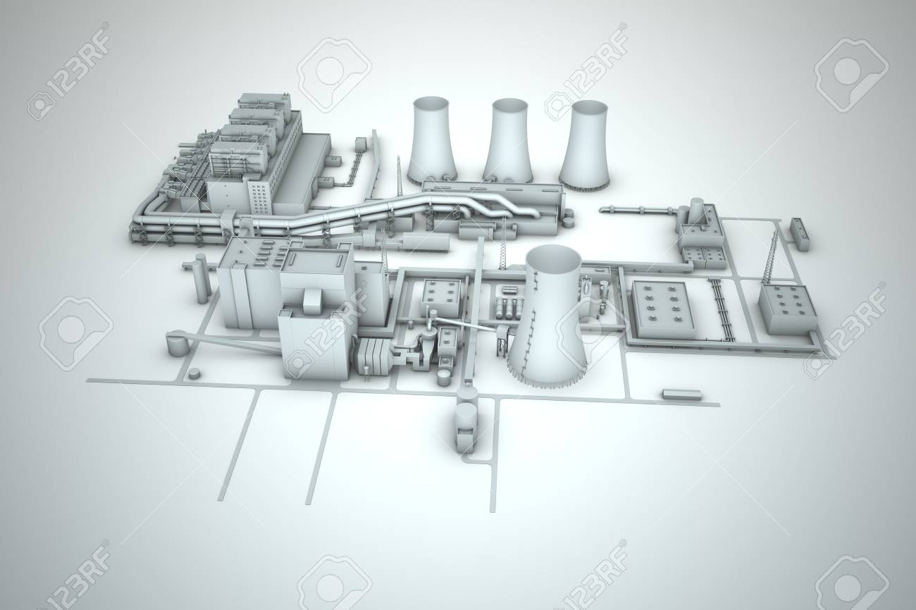 cooling tower of nuclear power plant Stock Photo - 18480791