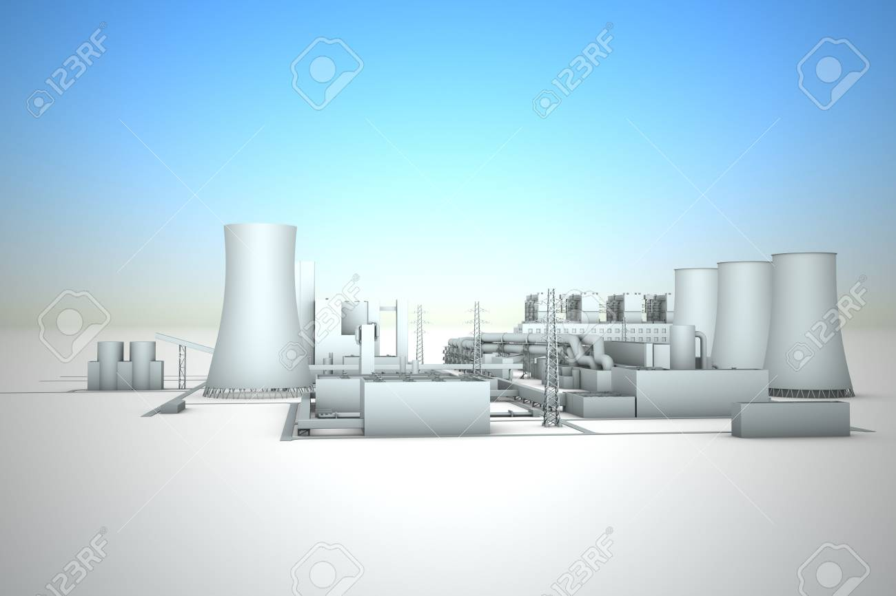 cooling tower of nuclear power plant Stock Photo - 18481023