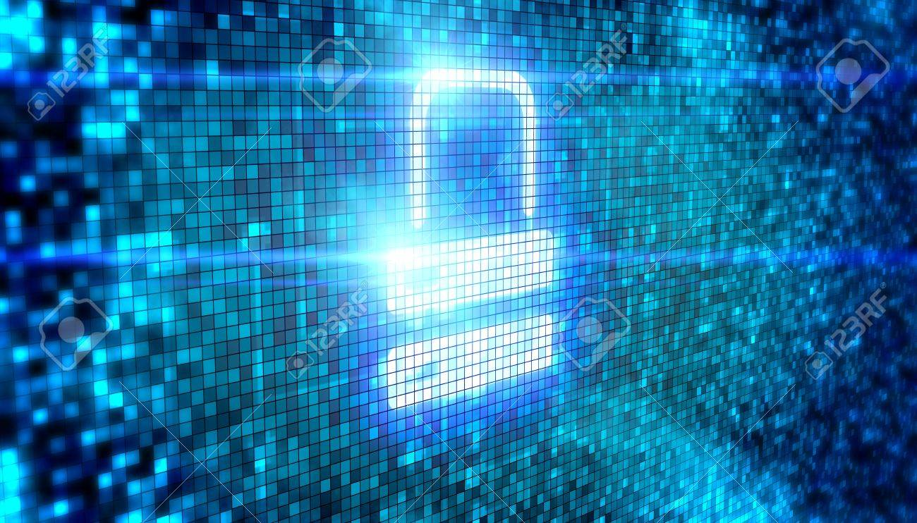 Lock icon digital style Stock Photo - 18481346