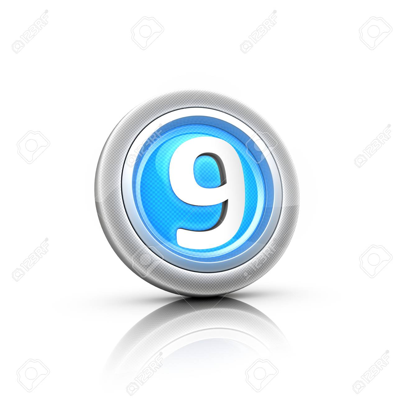 Button with digital label Stock Photo - 18481400