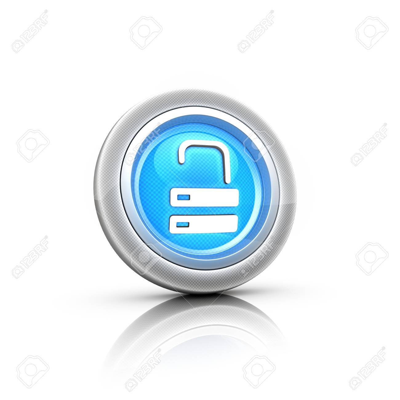 Red lock button Stock Photo - 18481644