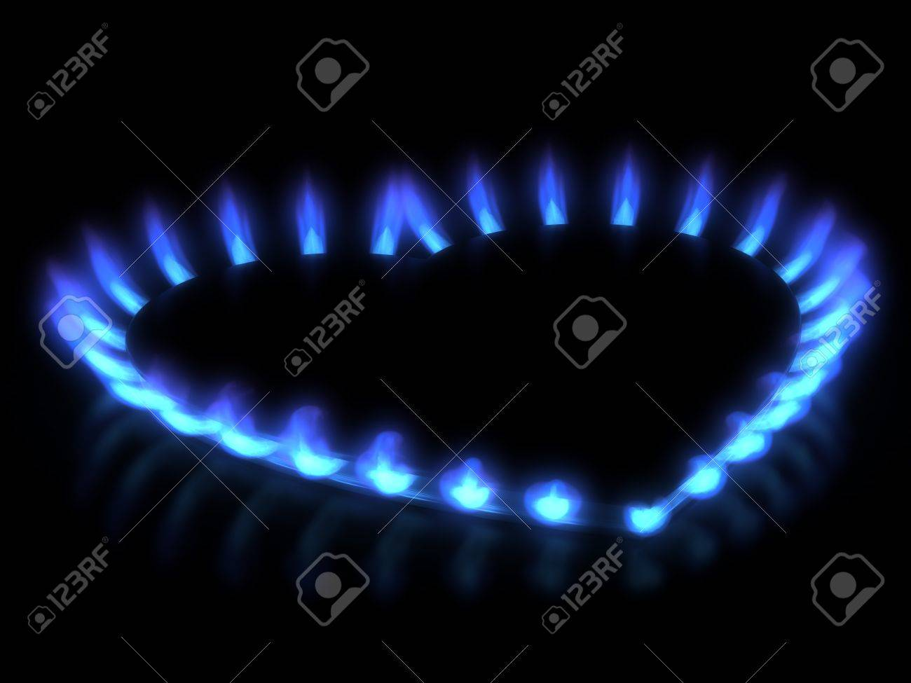 stove  Gas flame Stock Photo - 18943432
