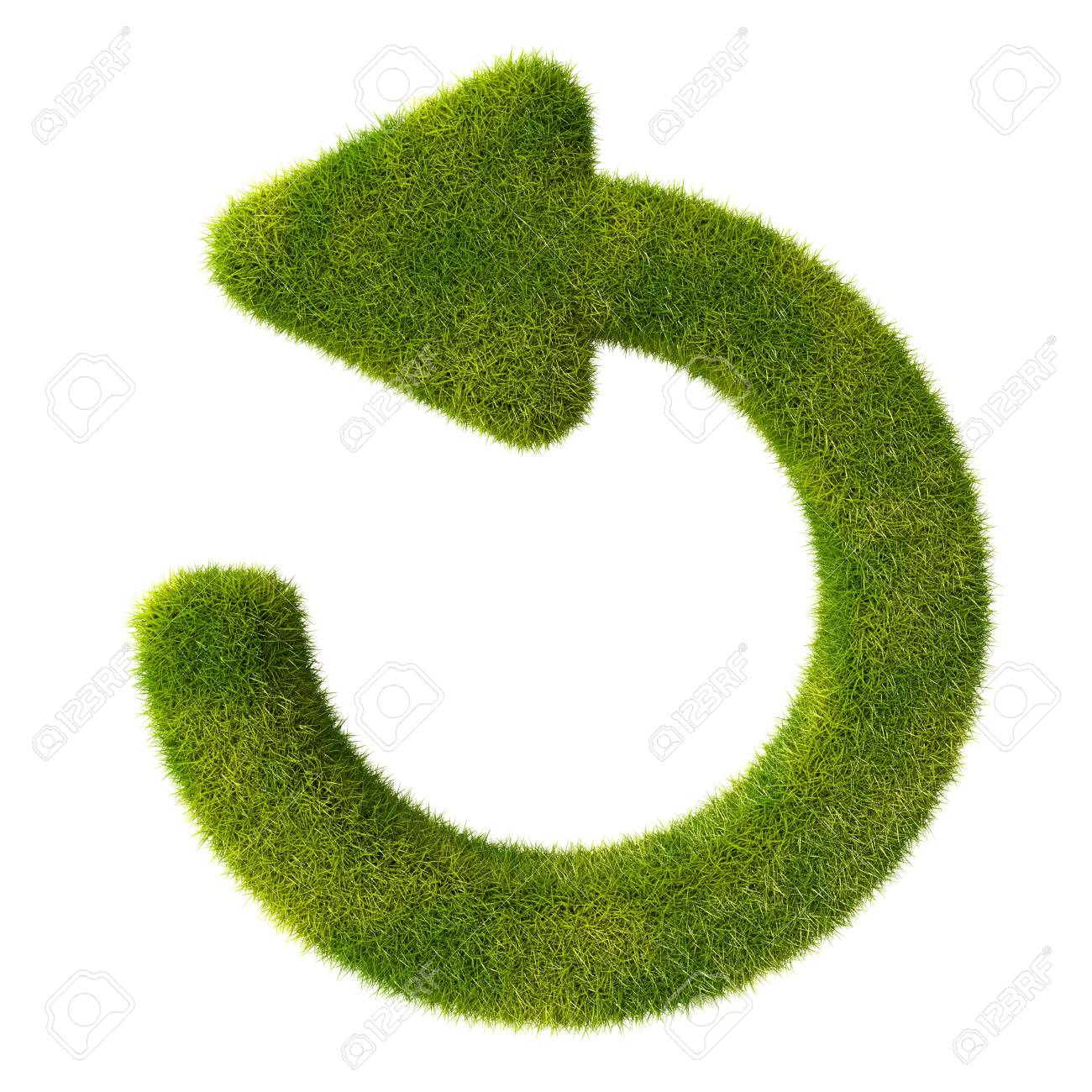 Refresh grass icon Stock Photo - 19166627