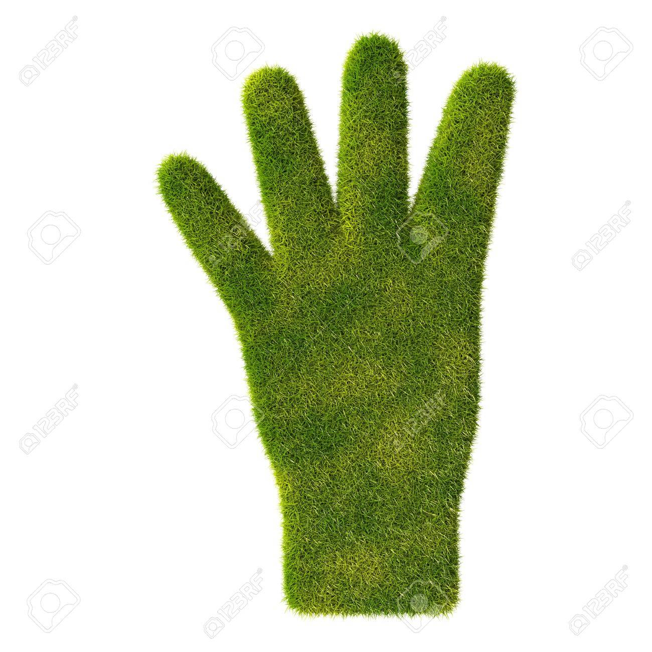 Grass hand icon  Four fingers Stock Photo - 19166617