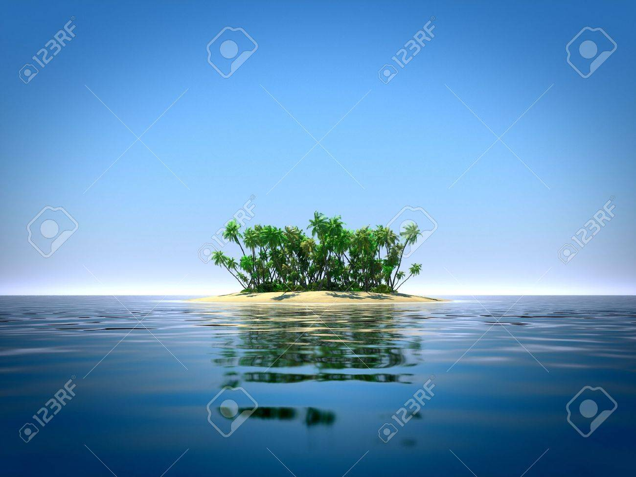 Tropical island in the ocean Stock Photo - 20323431