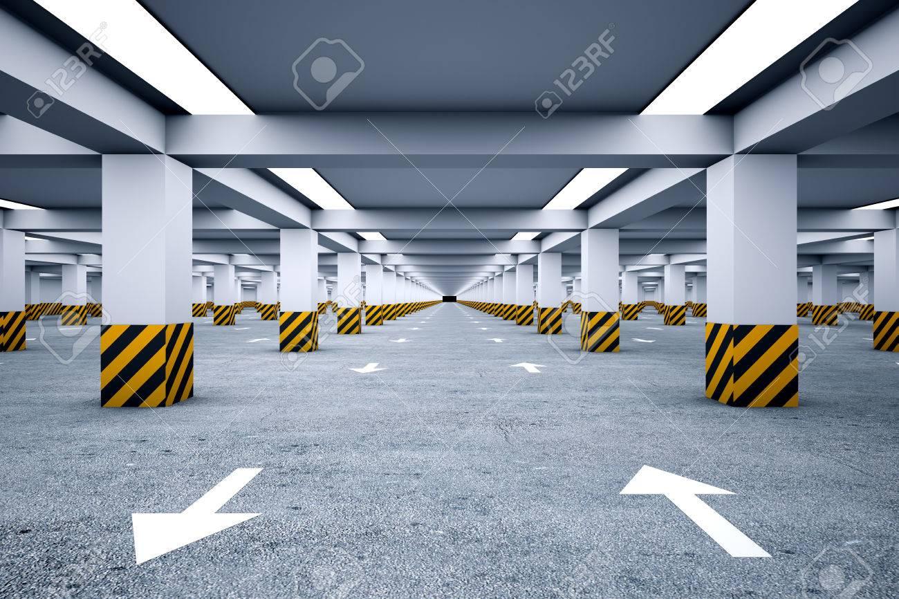Underground parking with no cars - 22828870
