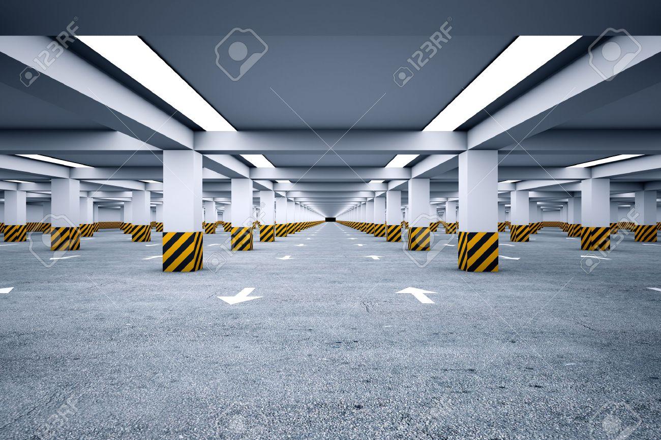 Underground parking with no cars - 22828872