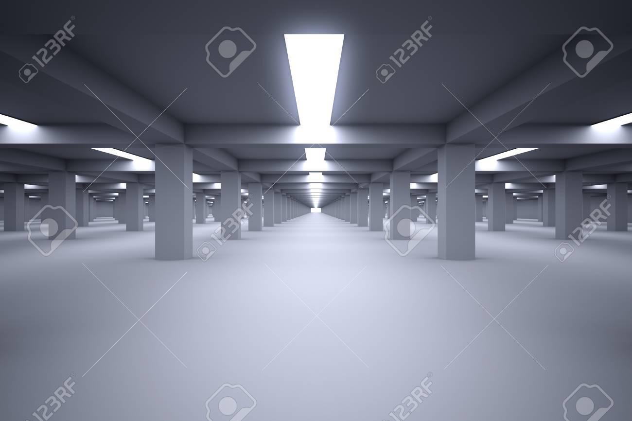 Underground parking with no cars - 22828873