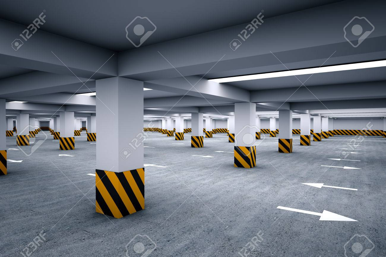 Empty parking area 3d render Stock Photo - 23294254