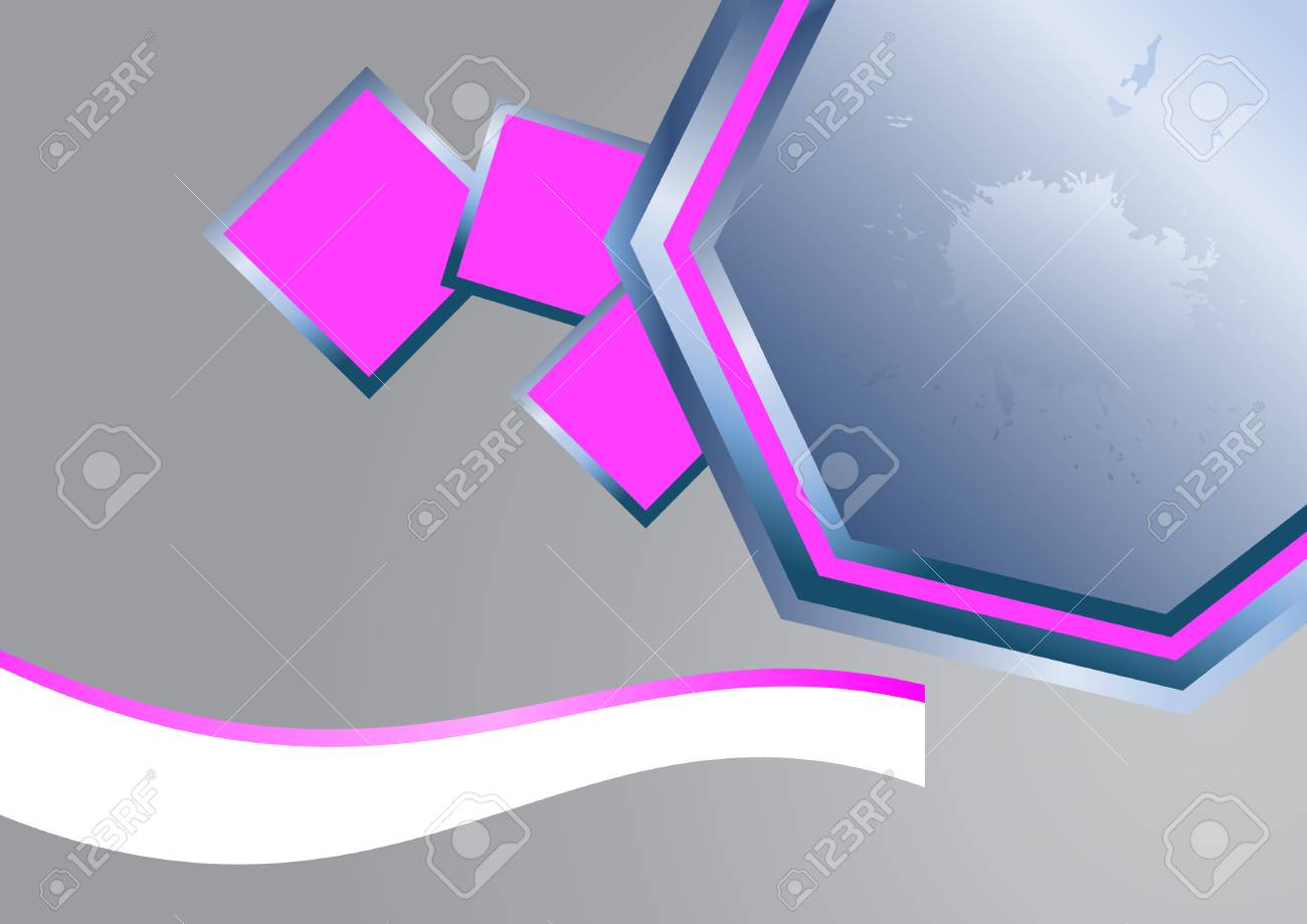 Abstract pink element background. Clip-art Stock Vector - 7914125