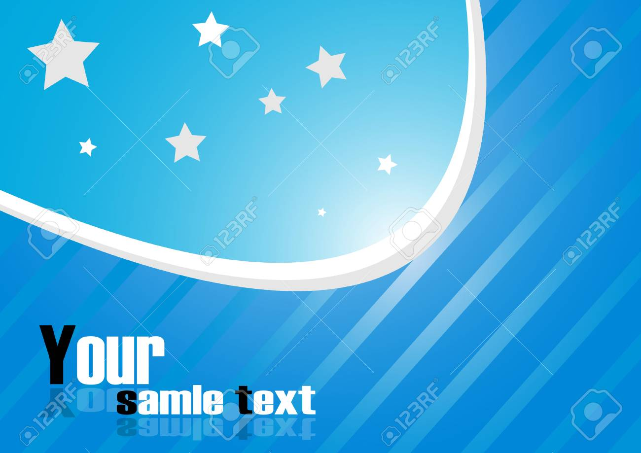 blue background. Clip-art Stock Vector - 8131967