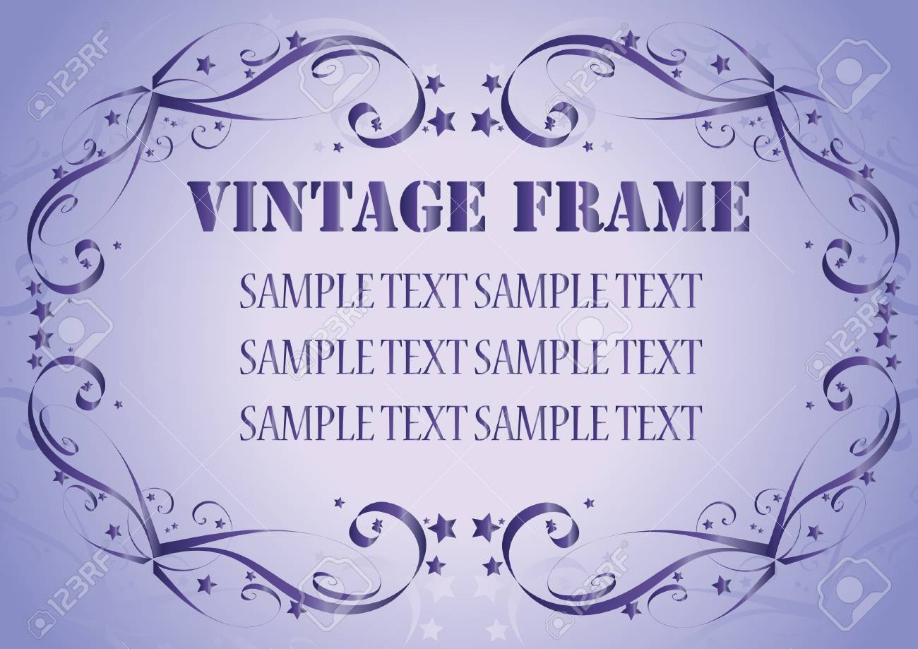 Vintage frame. Clip-art Stock Vector - 8660601