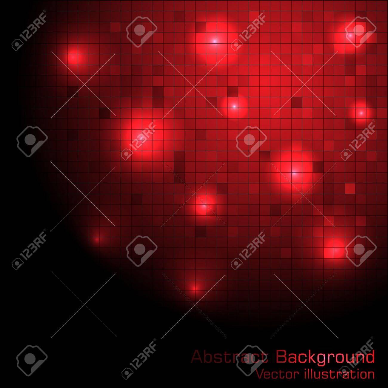 Vector red tech background. Clip-art Stock Vector - 9363441
