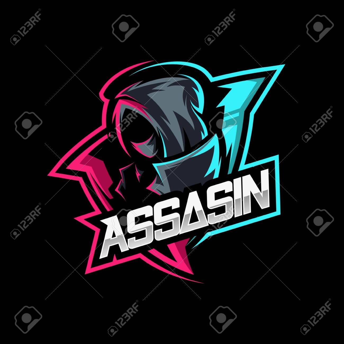 Assassin Ninja Mascot Gaming Logo Vector Royalty Free Cliparts Vectors And Stock Illustration Image 148797236