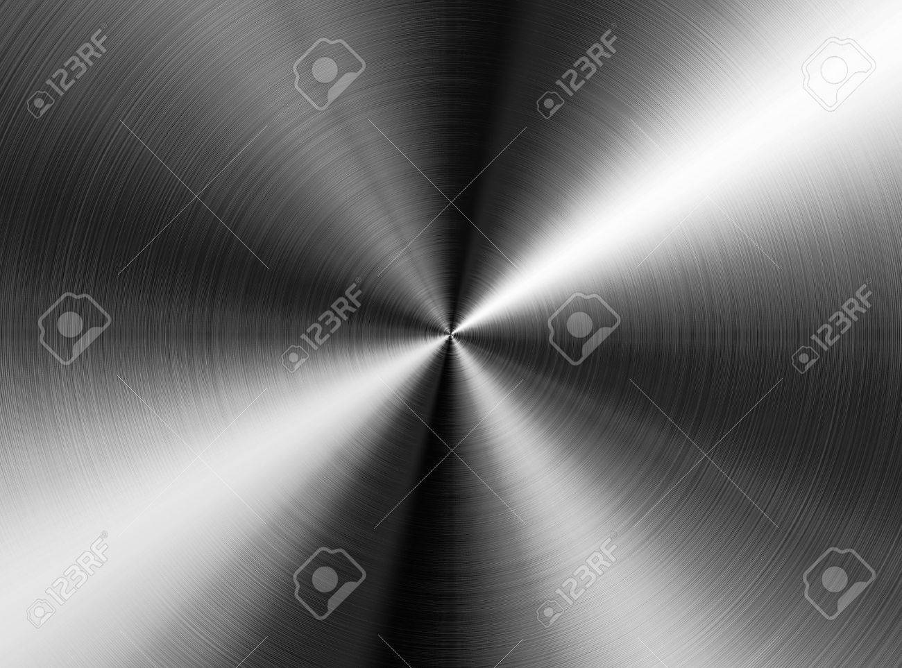radial stainless steel background Stock Photo - 9140267