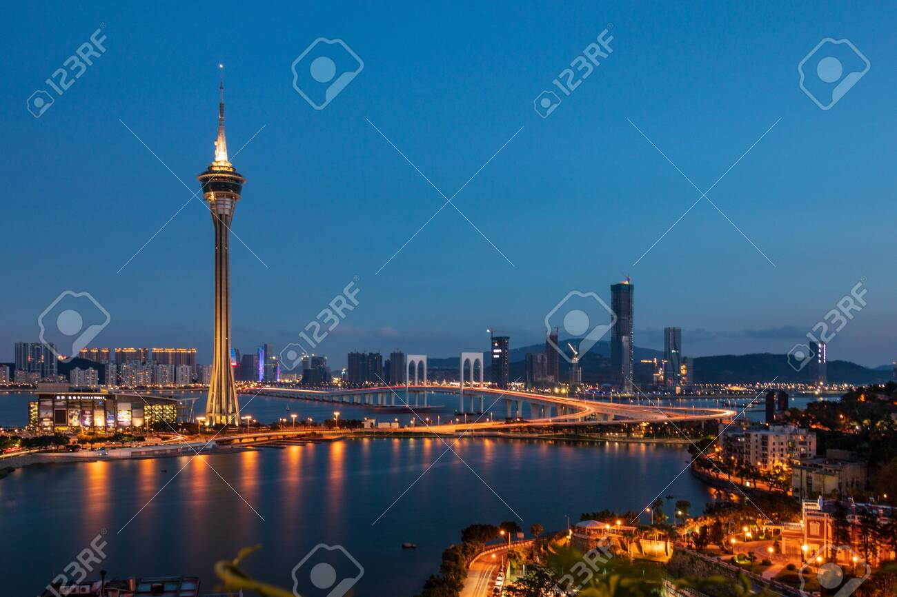 Macau Tower is 338 meters about 1,108 feet above the ground. The highest observation level is the Outdoor Observation Deck on Level 61, with a height of 223 meters about 732 feet. Walking around the Observation Deck, you can have a panoramic view of the Peal River Delta, Macau Peninsula and Taipa, Coloane islands. The Observation Lounge is on Level 58. - 129981766