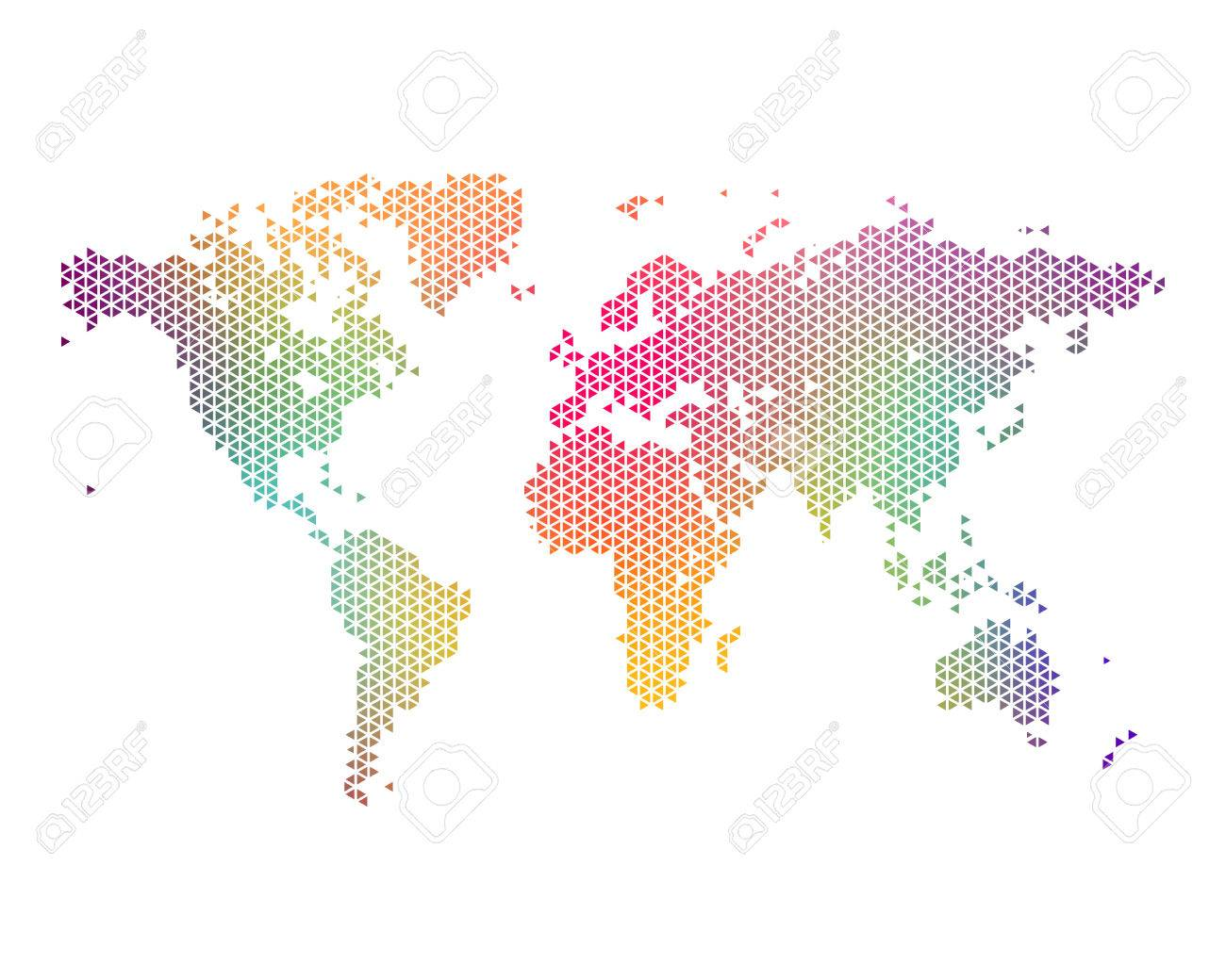 Colorful world map consisting of triangles vector illustration colorful world map consisting of triangles vector illustration stock vector 44098116 gumiabroncs Gallery