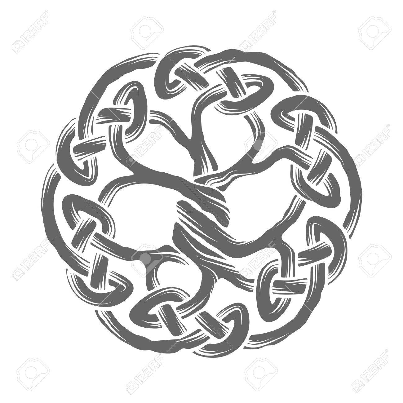 Illustration Of Celtic Tree Of Life Royalty Free Cliparts Vectors