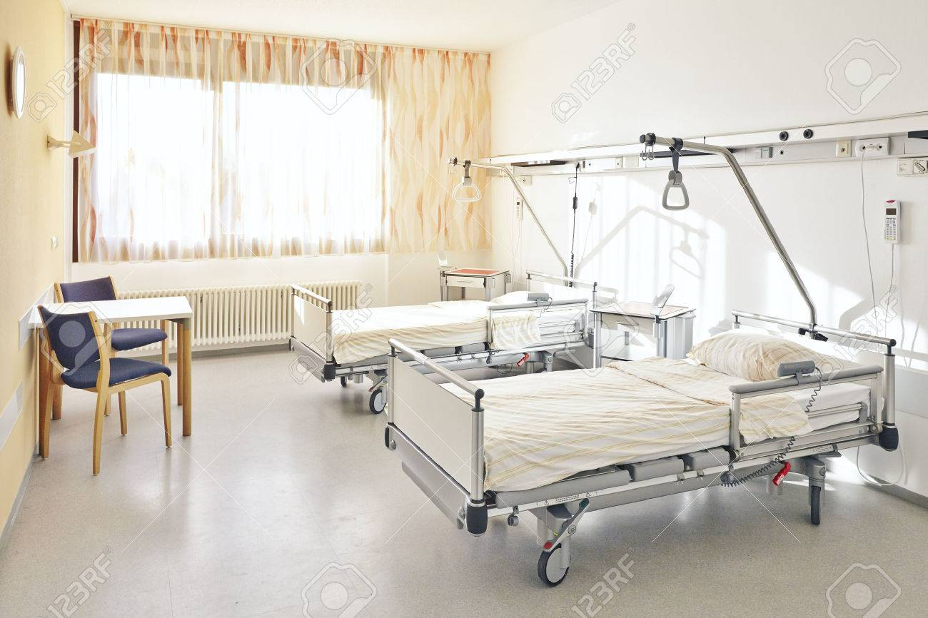Hospital Room With Two Beds Without People Stock Photo, Picture And ...