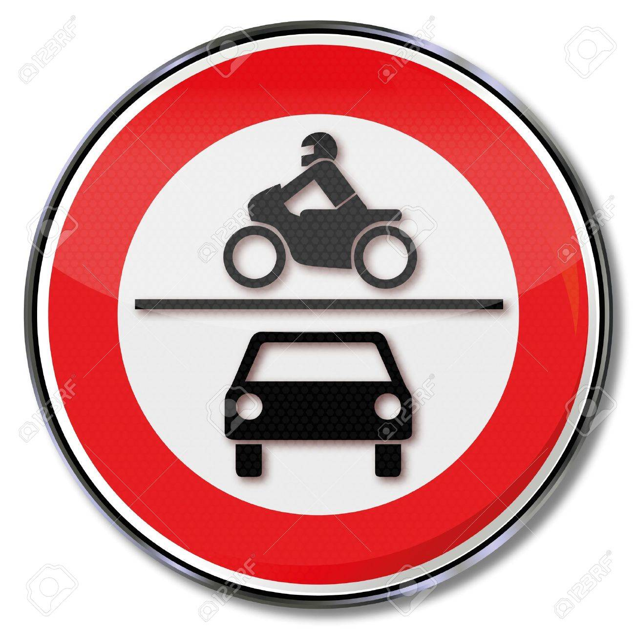 Traffic Sign Ban On Motorcycles And Cars Royalty Free Cliparts ...