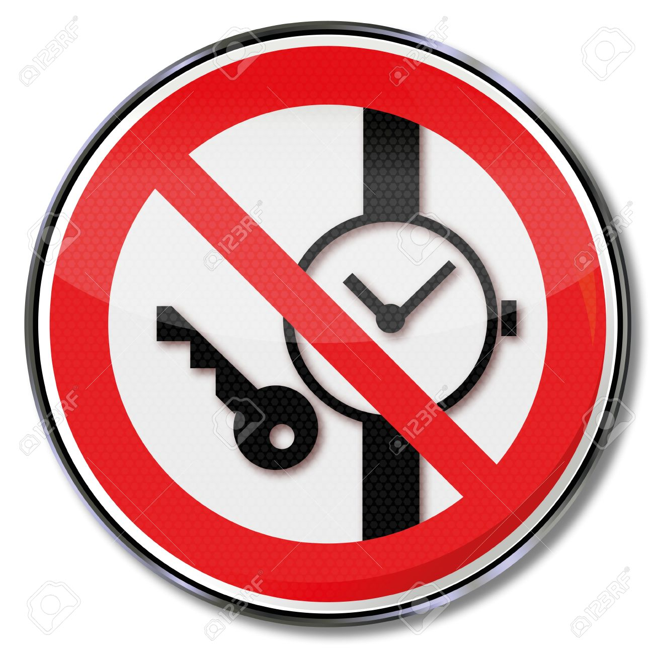 Carrying signs banning metal and watch banned Stock Vector - 14777964