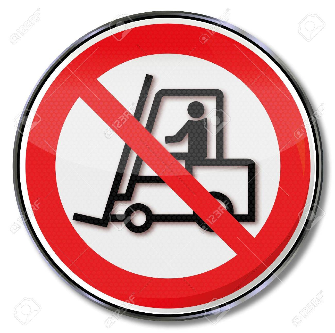 Safety signs prohibited for truck Stock Vector - 14777963