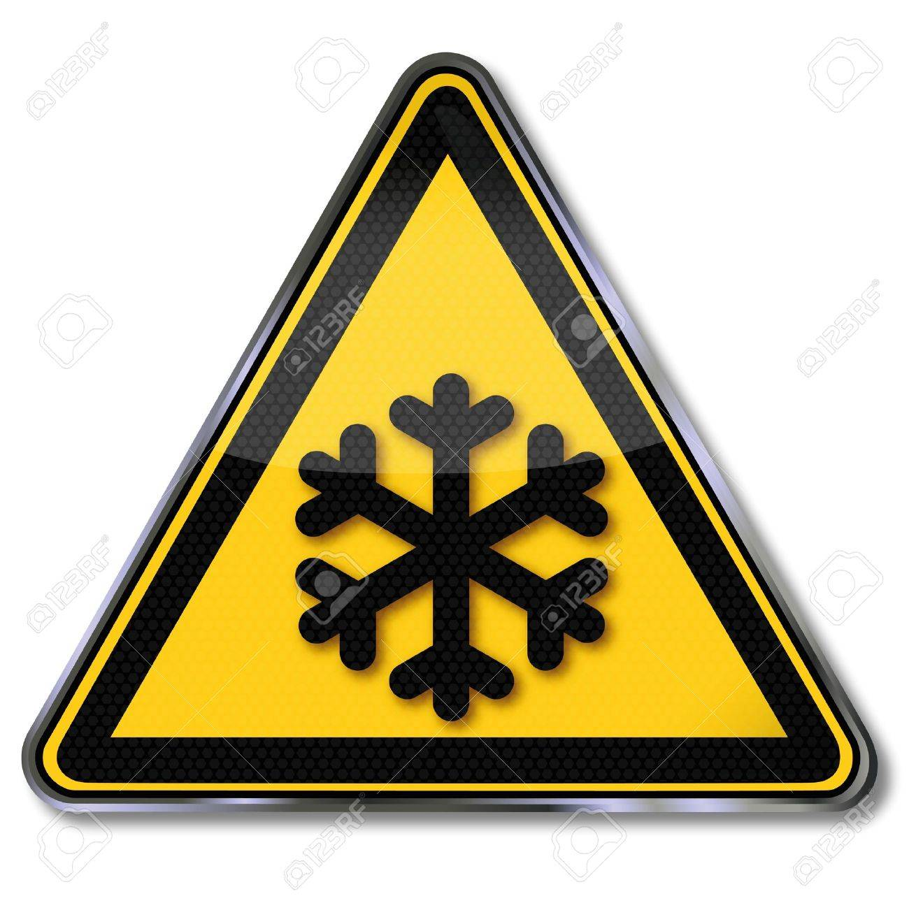 Danger signs warning against cold Stock Vector - 14950707