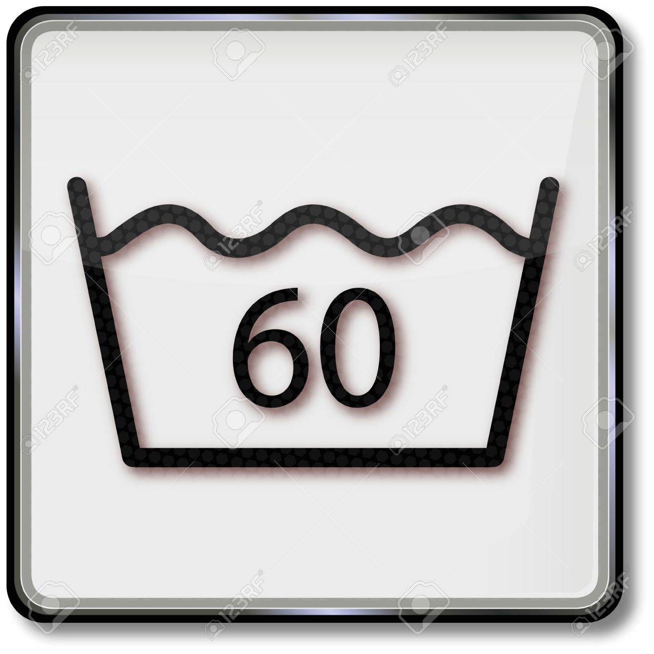 Textile care symbol wash 60 degrees Stock Vector - 14981852
