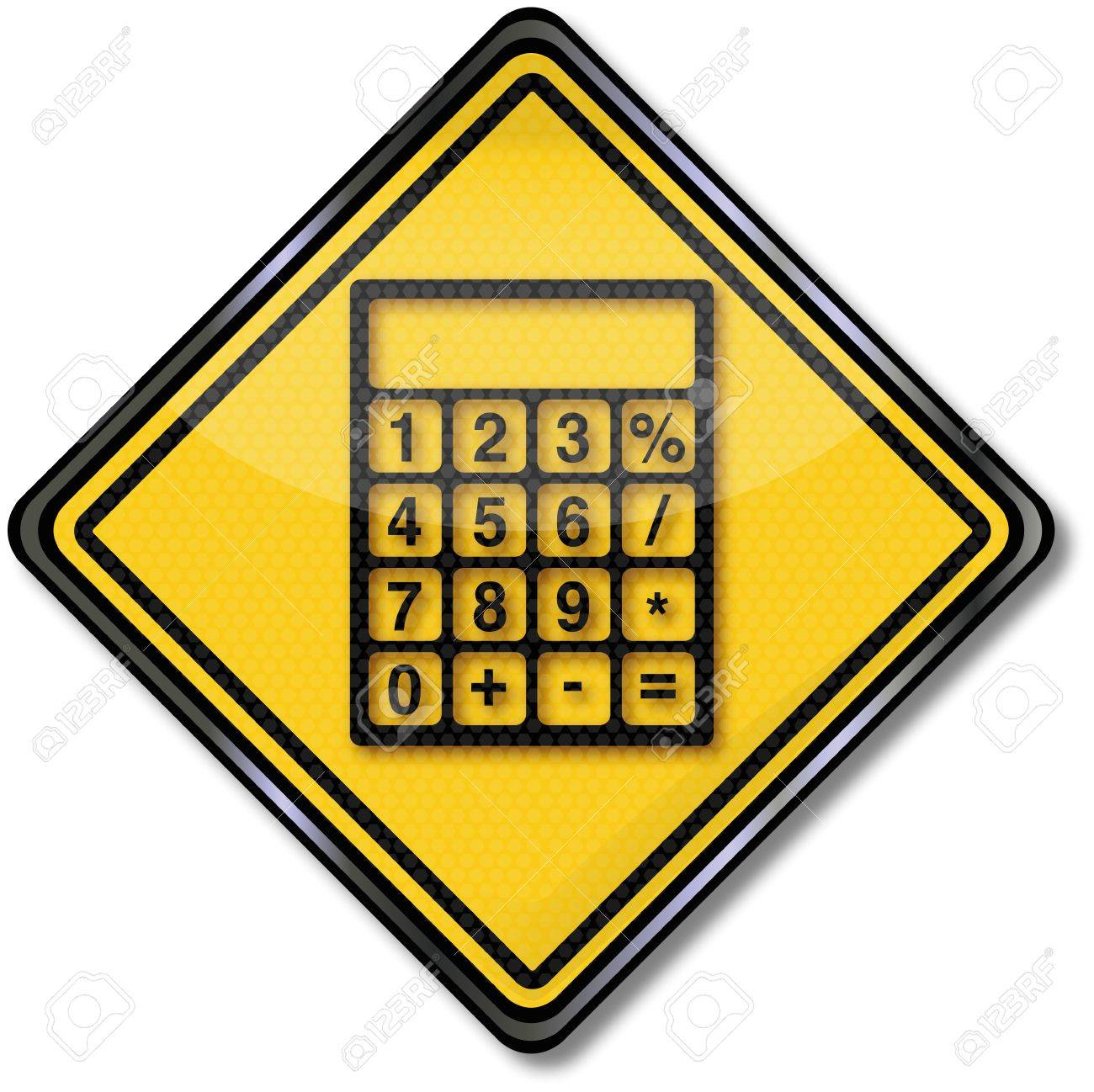 Sign calculator Stock Vector - 14981902