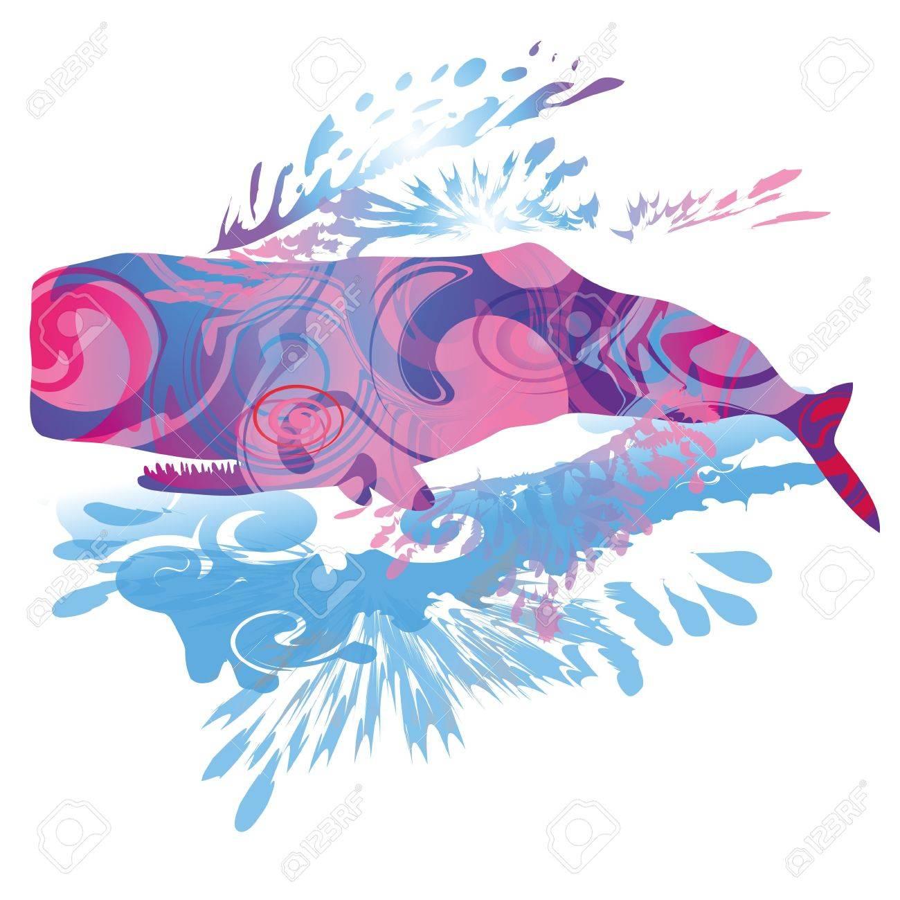 sperm whale Stock Vector - 15017605
