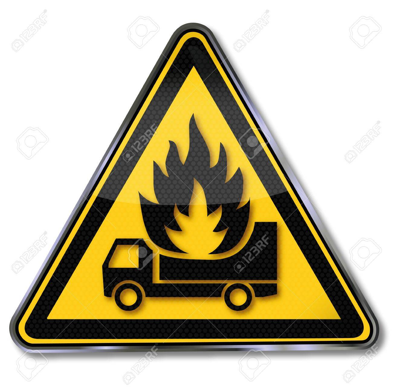 Sign truck on fire Stock Vector - 15121667