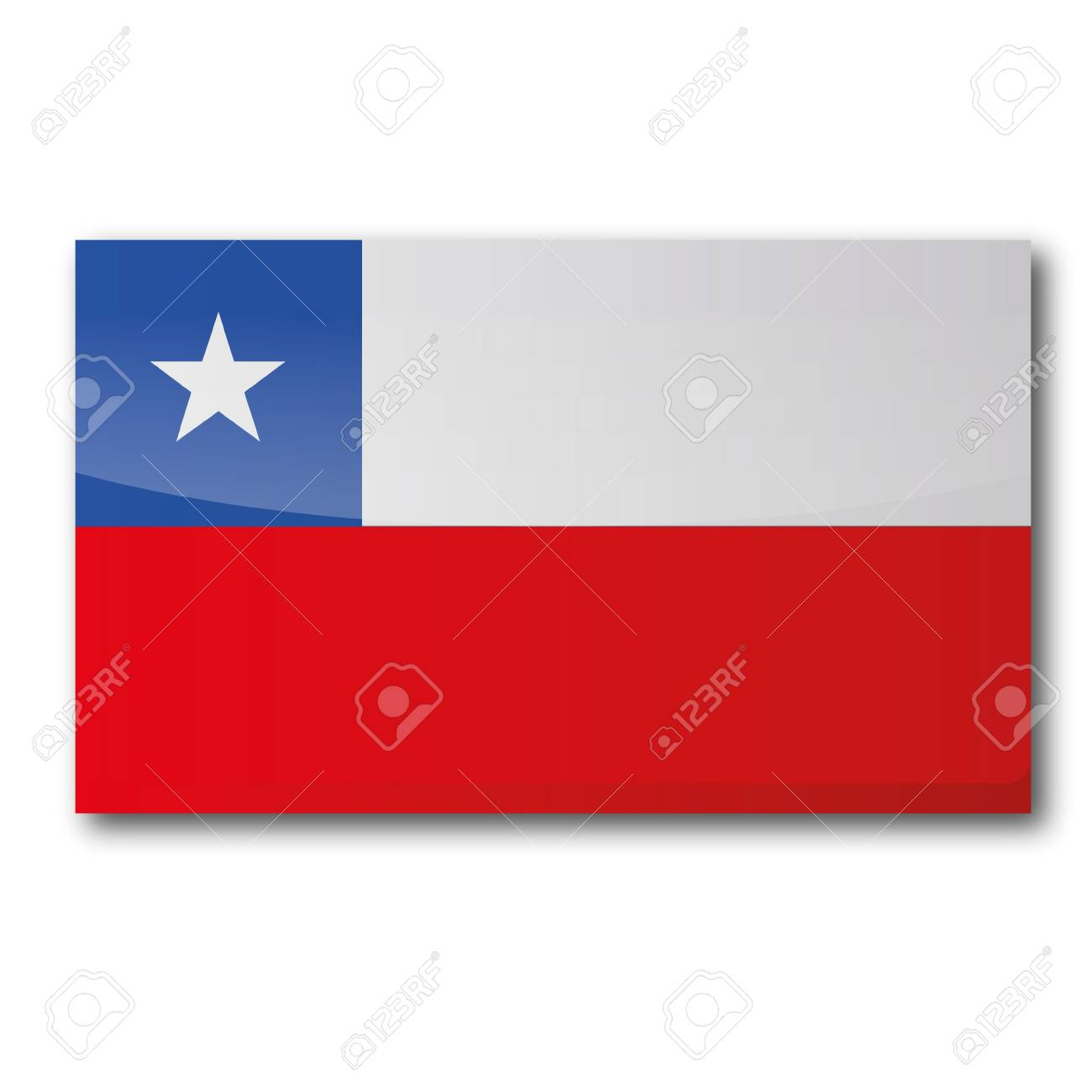 Button Chile Stock Vector - 15121756