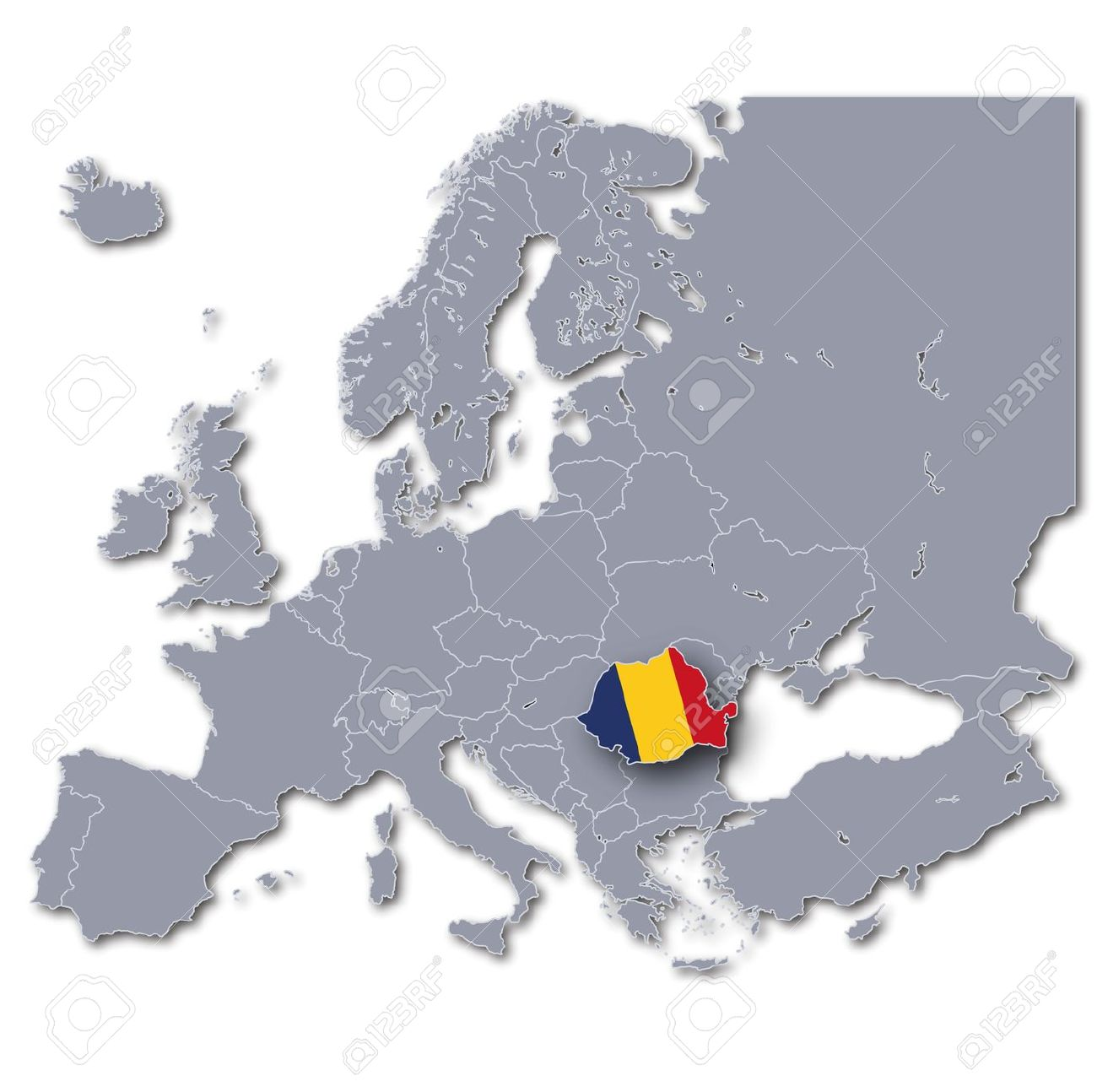 Map Romania Stock Photo, Picture And Royalty Free Image. Image 15389531.