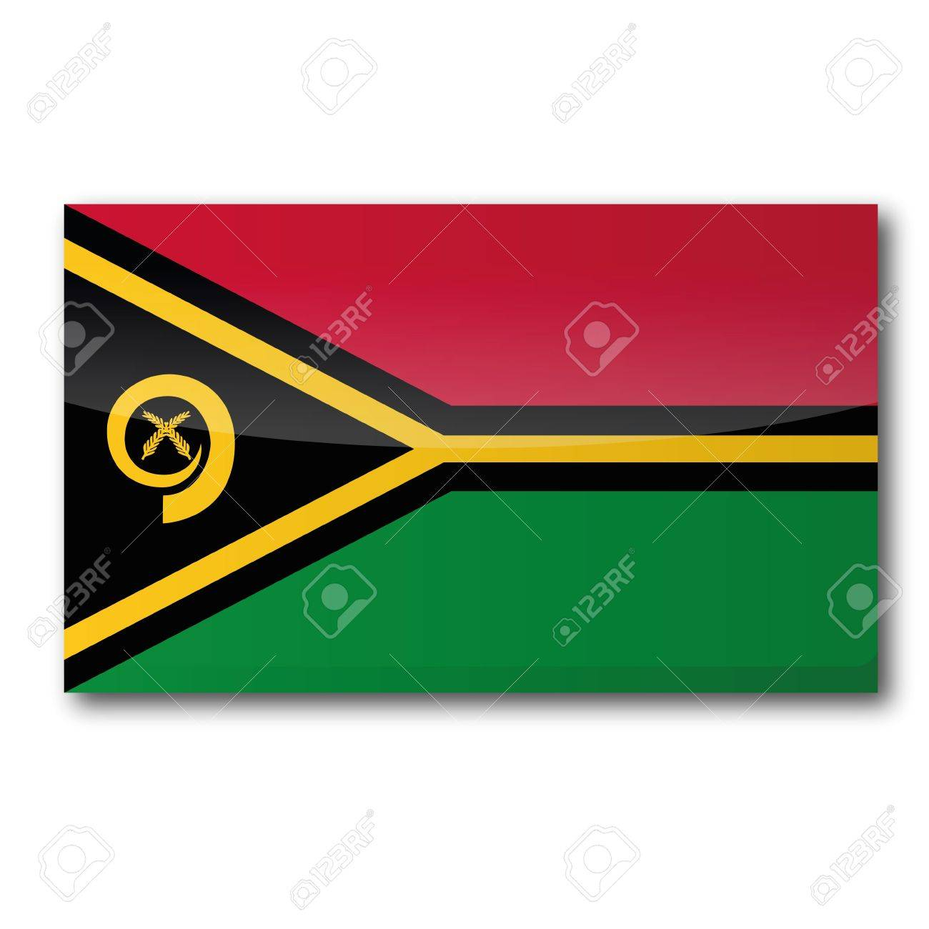 Flag Vanuatu Stock Vector - 15443140