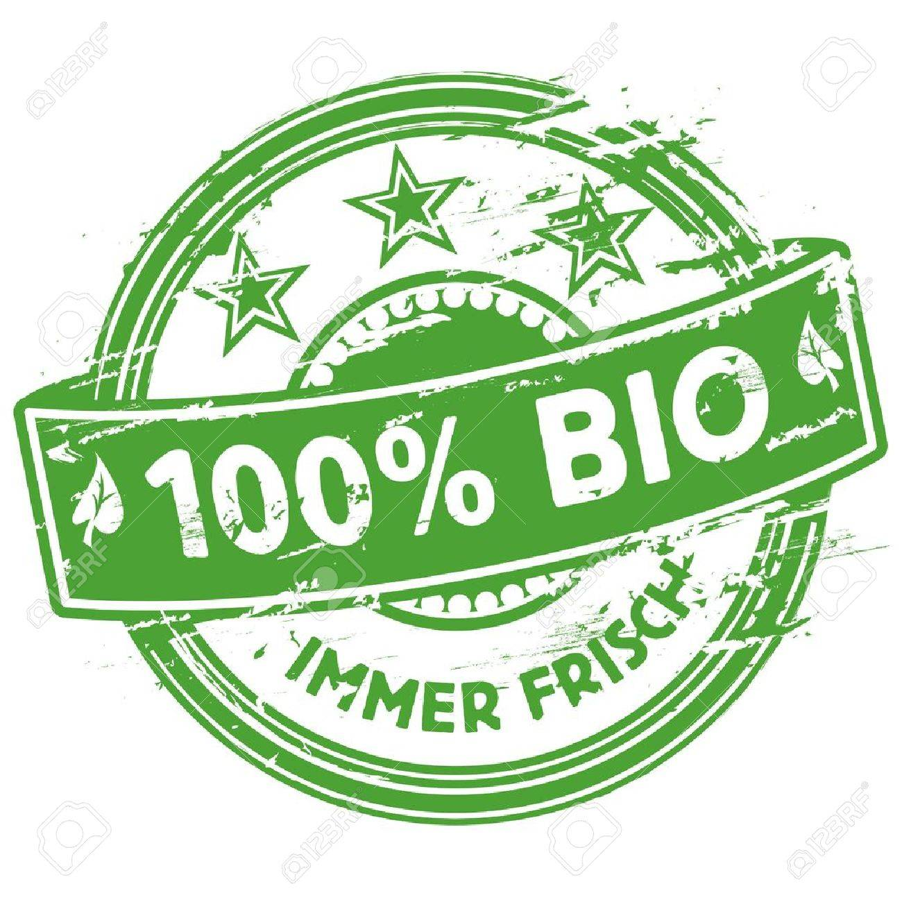 Rubber stamp 100  Bio Stock Vector - 15443135