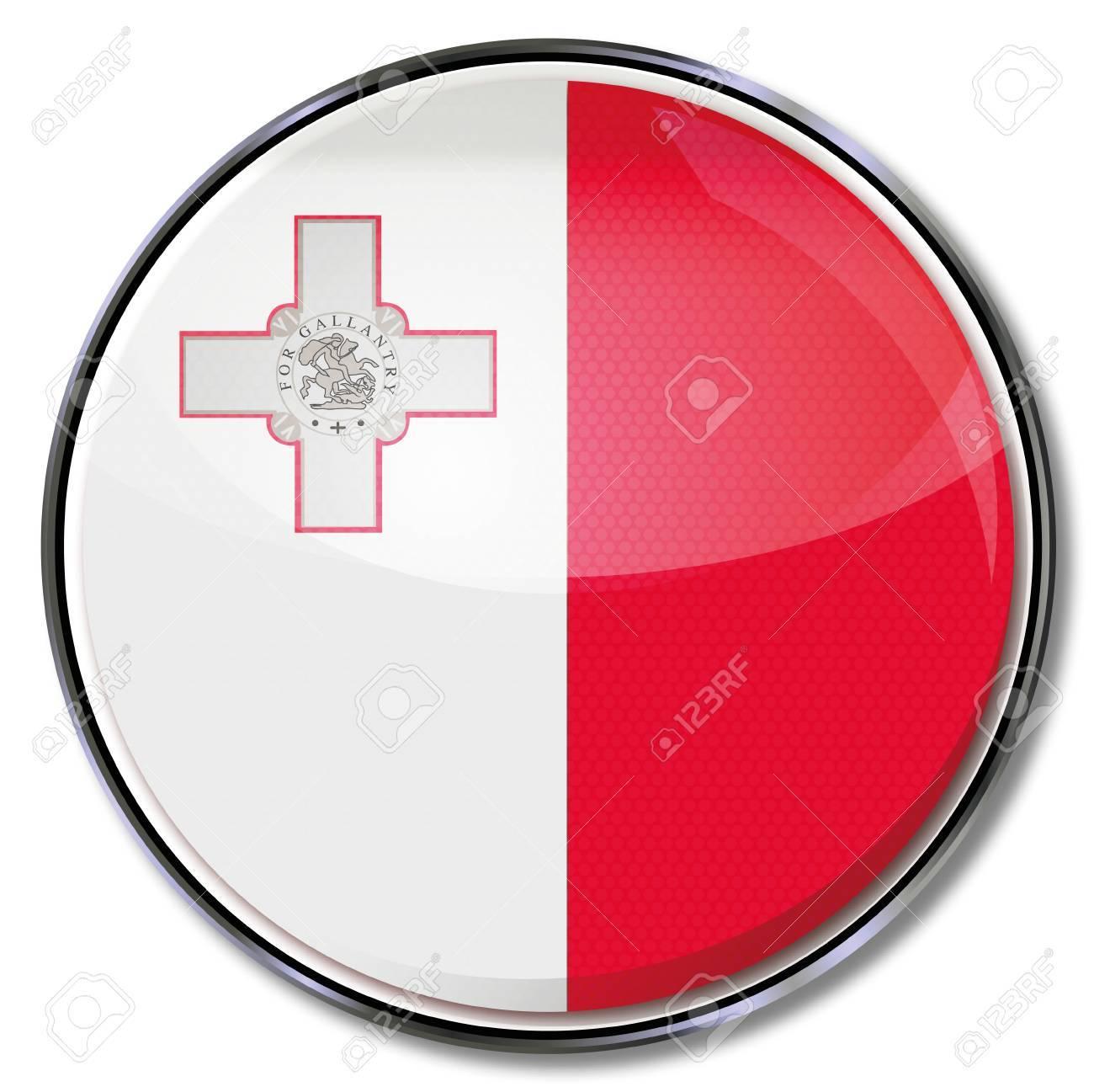 Button Malta Stock Vector - 15538959